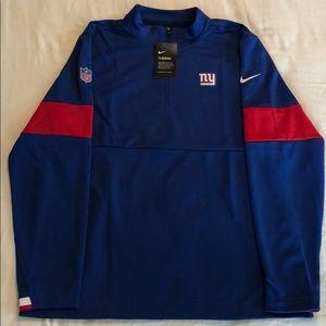 Nike Therma NY Giants Half Zip Pullover Jacket